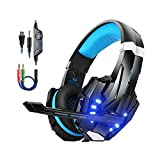 Kotion Each PS4 Gaming Headset PC mit Mikrofon LED...
