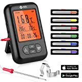 Te-Rich Bratenthermometer Bluetooth Grill...