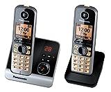 Panasonic KX-TG6722GB Duo Schnurlostelefon (4,6 cm...