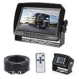 7' TFT LCD KFZ Monitor+18 IR LED Rückfahrkamera...