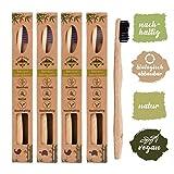 4er Pack  Bambus Zahnbürste mit reinem...