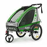 Qeridoo Jumbo 1 Kinder-Fahrradanhänger (1 Kind) -...