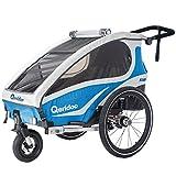 Qeridoo Fahrradanhänger Kidgoo1 Blau