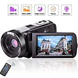 Videokamera Camcorder Full HD 1080P 24.0MP...