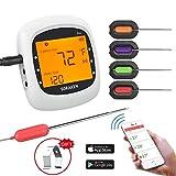 Grillthermometer Bluetooth, Digital Wireless BBQ...