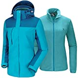 CAMEL Damen wasserdichte Winterjacke Ski 3-in-1...