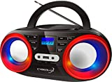 Tragbarer CD-Player | LED-Discolichter | Boombox |...