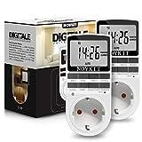 2x NOVKIT digitale Zeitschaltuhr Steckdose mit 10...