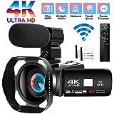 Camcorder Videokamera 4K Ultra HD 48MP WiFi...