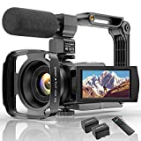 Videokamera 4K WiFi Full Hd Video Camcorder mit...