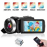 Videokamera Camcorder Full HD 1080P 30FPS IR...