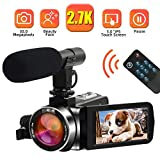 Camcorder Videokamera 2.7K 30MP Camcorder Full HD...
