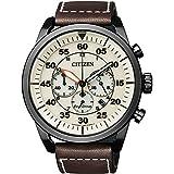 Citizen Herren Chronograph Quarz Uhr mit Leder...