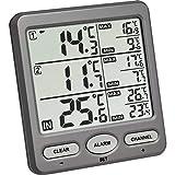 TFA Dostmann Trio Funk-Thermometer, mit 2 Sendern,...