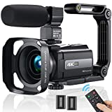Videokamera Camcorder 4K, MELCAM WiFi Video...