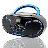 LONPOO CD Player Tragbar Radio Boombox mit...
