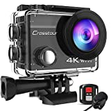Crosstour Action Cam 4K 20MP WiFi Fernbedienung...