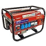 Elektrischer Generator, Benzin, mit Rollen 15 L...