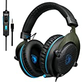 Sades R7 Over Ear Stereo Bass Gaming Headsets, USB...