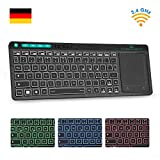 Rii K18 Plus Kabellose Touchpad Tastatur, 2.4G...