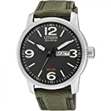 Citizen Herren Analog Quarz Uhr mit Nylon Armband...