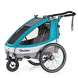 Qeridoo Sportrex 1 (2020) Fahrradanhänger Kinder,...