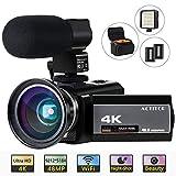 ACTITOP 4K Camcorder, Videokamera 48MP Full HD...