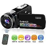 Camcorder Videokamera Full HD Digitalkamera 1080P...