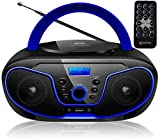 Tragbarer CD-Player | Boombox | CD/CD-R | USB | FM...